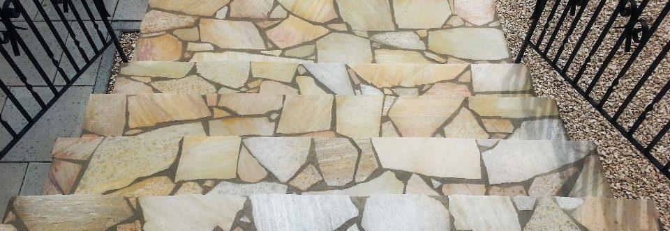 Treppenstufen aus Porphyr